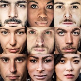 Multi ethnic people portraits